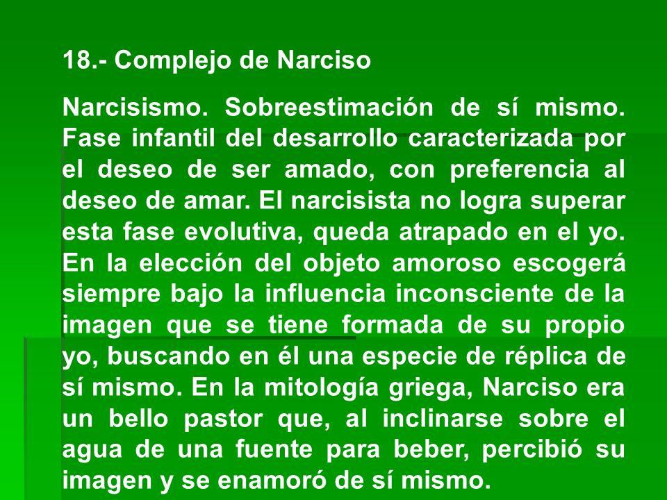 18.- Complejo de Narciso