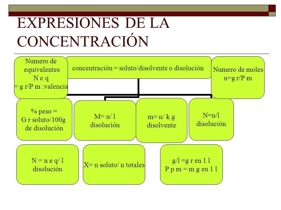 EXPRESIONES DE LA CONCENTRACIÓN