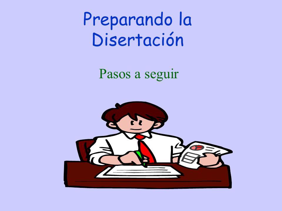 Preparando la Disertación