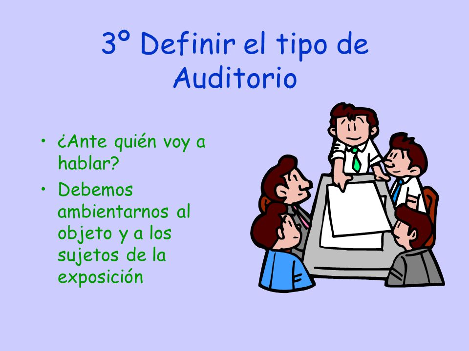 3º Definir el tipo de Auditorio