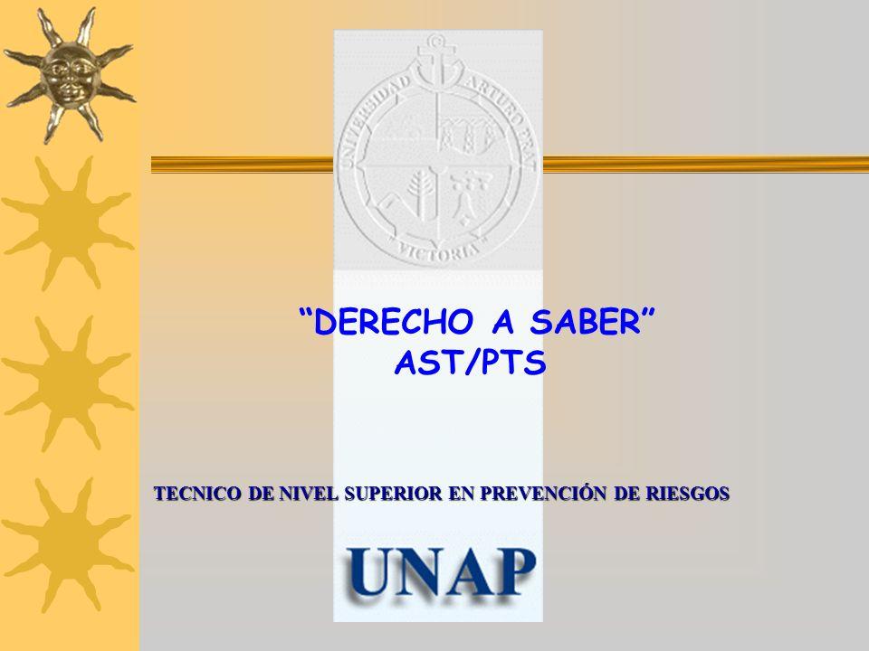 DERECHO A SABER AST/PTS