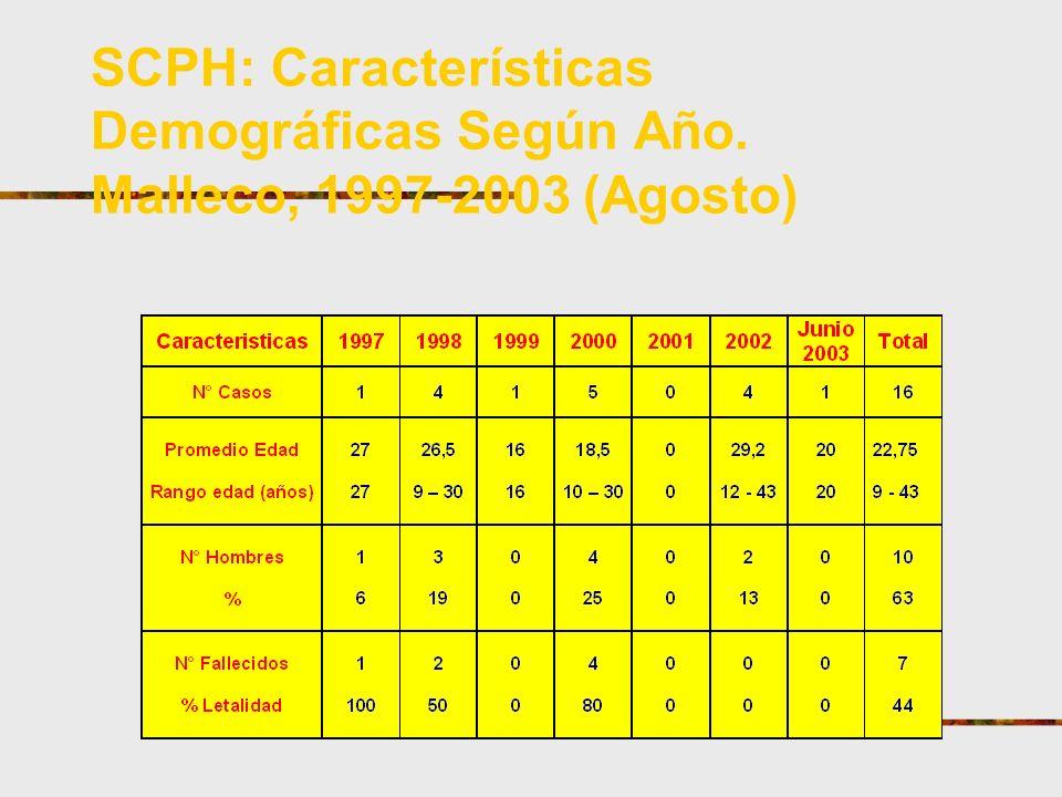 SCPH: Características Demográficas Según Año