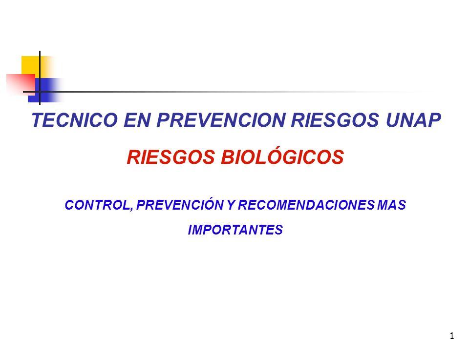 TECNICO EN PREVENCION RIESGOS UNAP