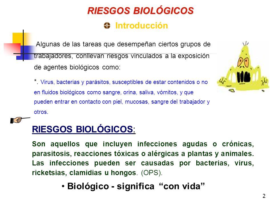 Biológico - significa con vida