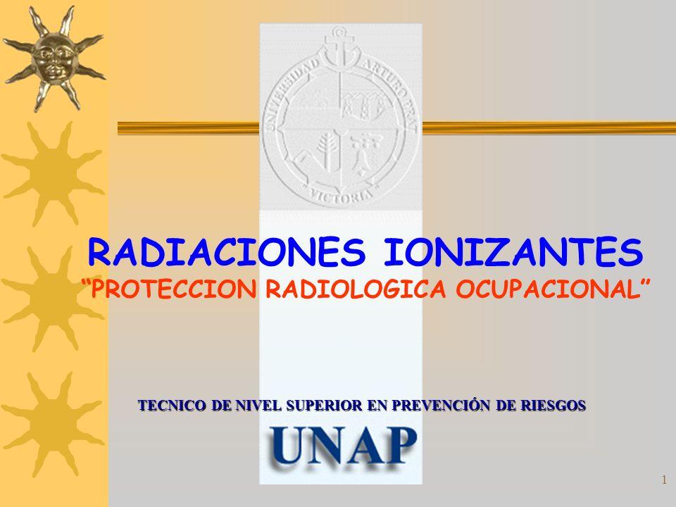 RADIACIONES IONIZANTES PROTECCION RADIOLOGICA OCUPACIONAL