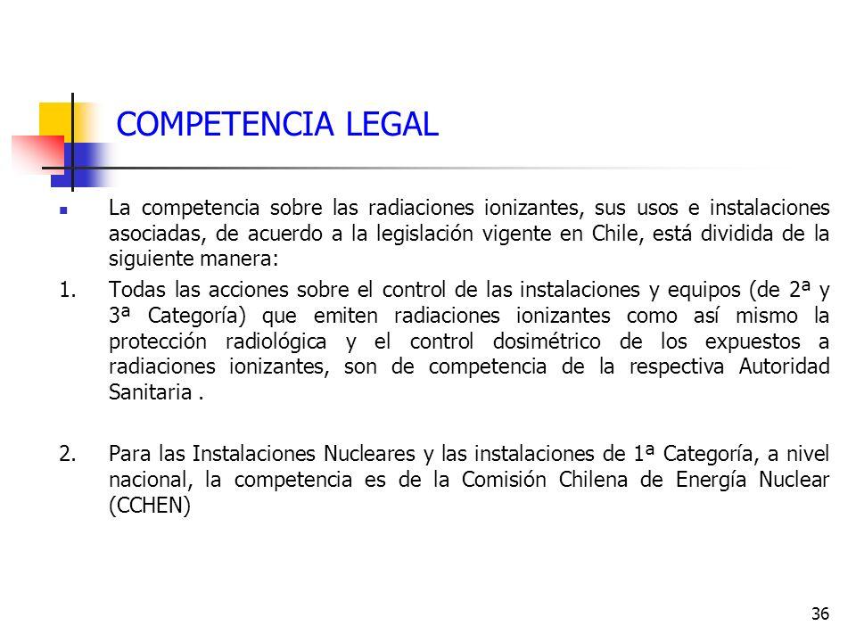 COMPETENCIA LEGAL