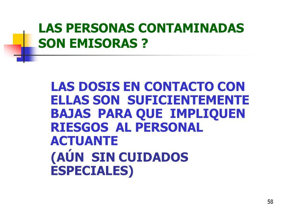 LAS PERSONAS CONTAMINADAS SON EMISORAS