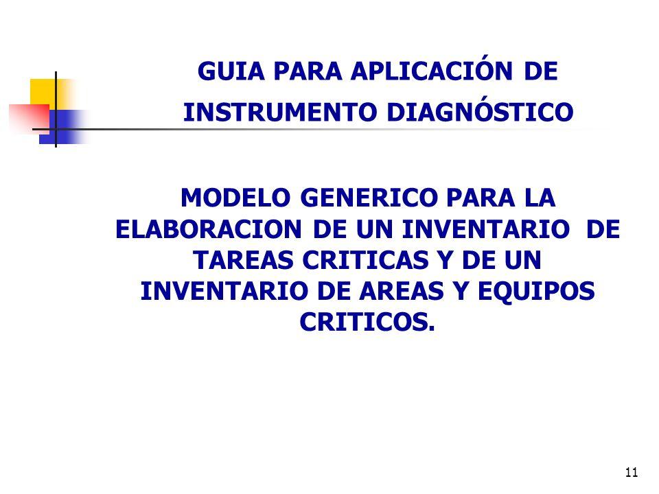 GUIA PARA APLICACIÓN DE INSTRUMENTO DIAGNÓSTICO