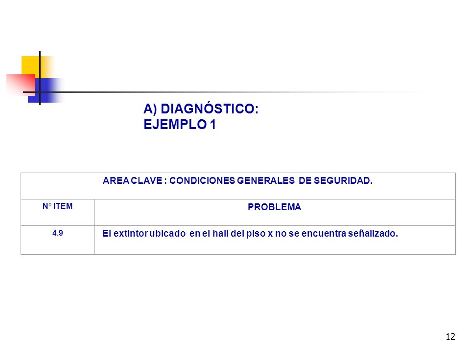 AREA CLAVE : CONDICIONES GENERALES DE SEGURIDAD.