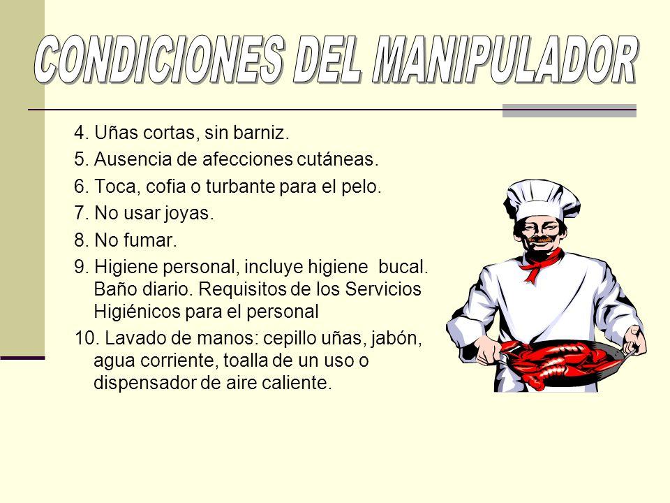 CONDICIONES DEL MANIPULADOR