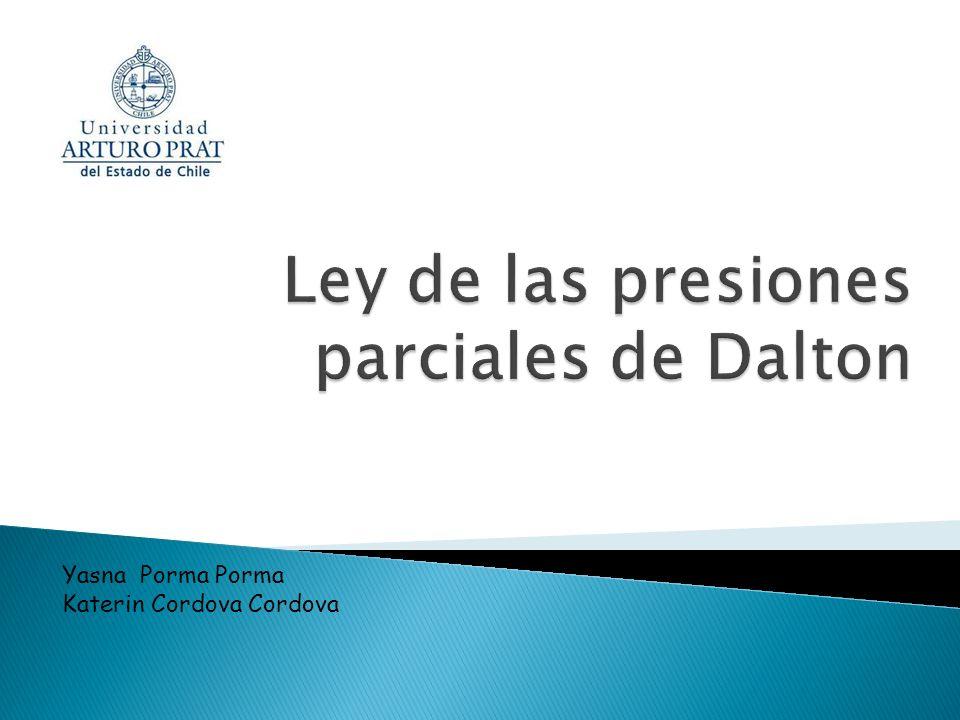 Ley de las presiones parciales de Dalton
