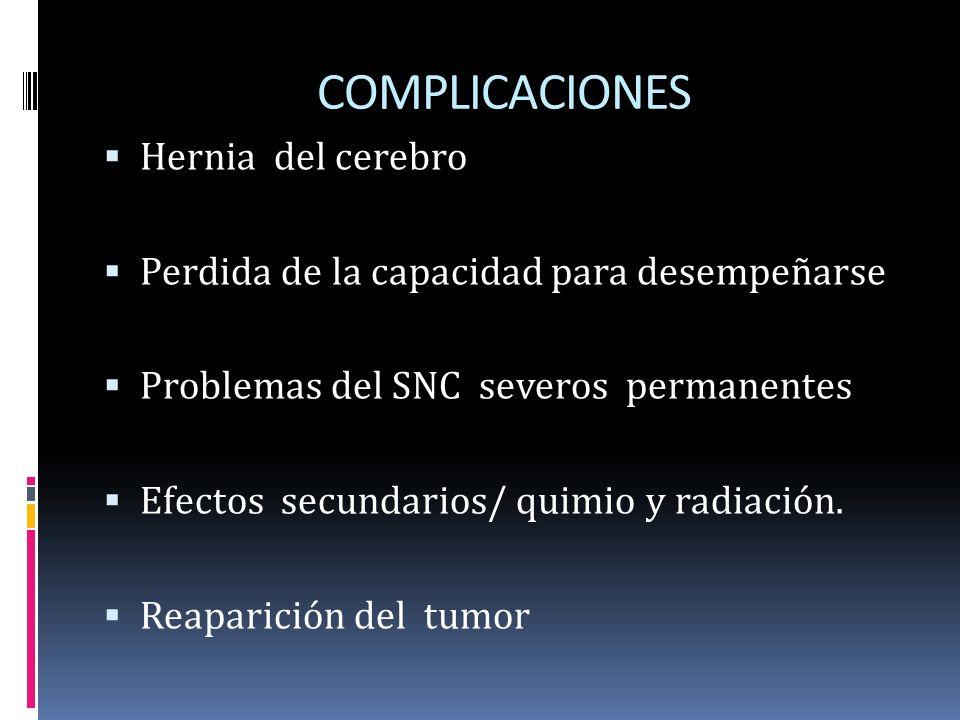 COMPLICACIONES Hernia del cerebro
