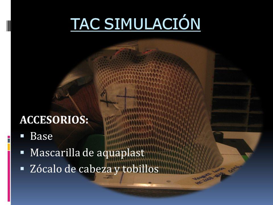 TAC SIMULACIÓN ACCESORIOS: Base Mascarilla de aquaplast