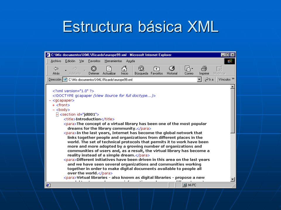 Estructura básica XML
