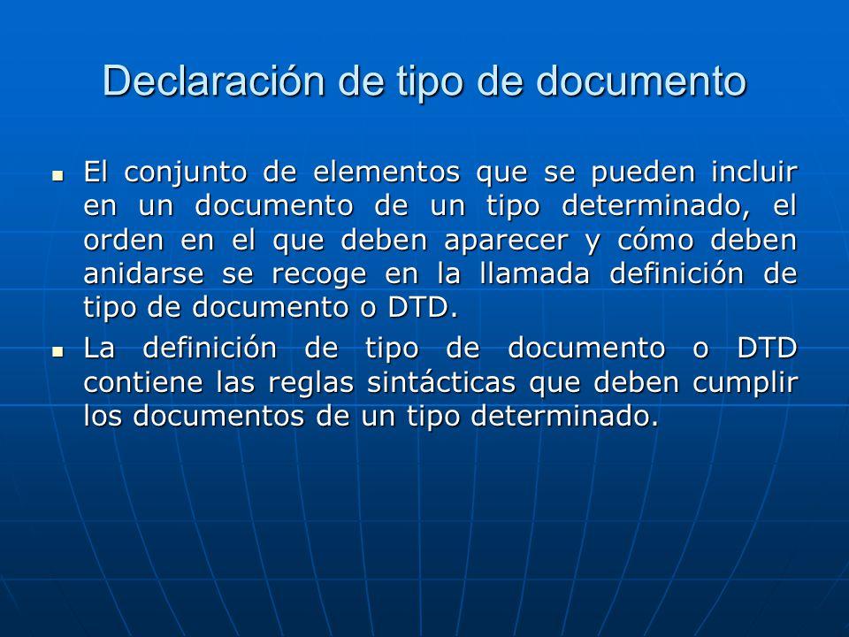 Declaración de tipo de documento