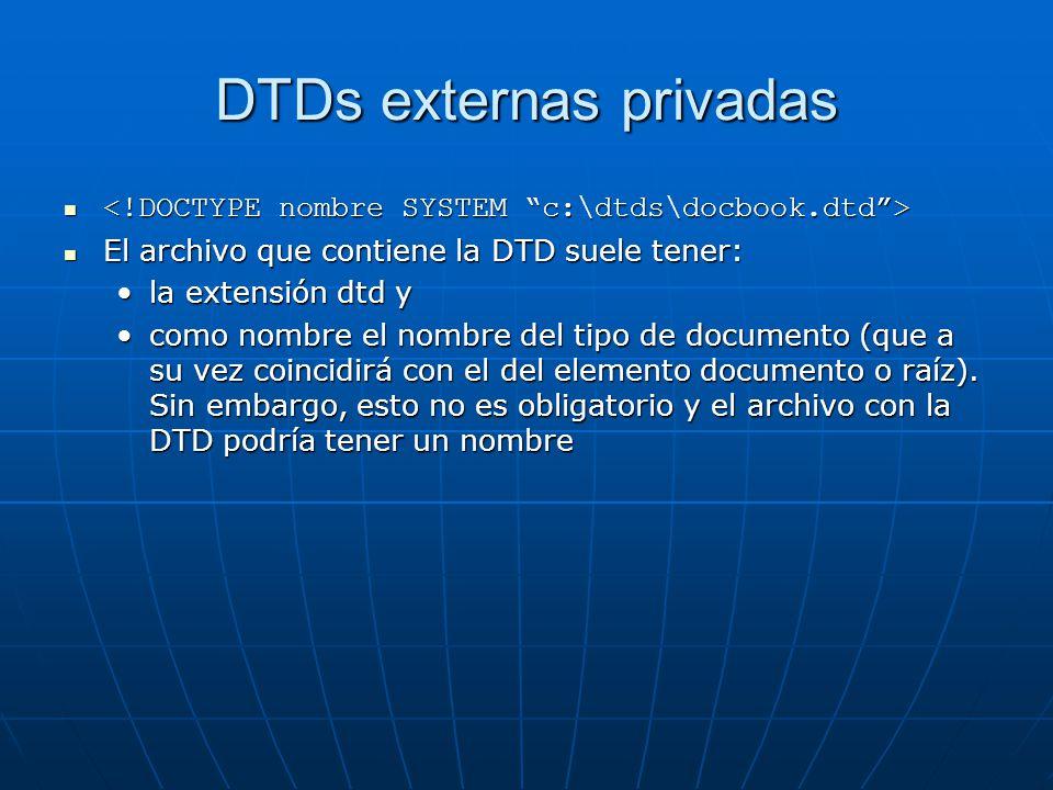DTDs externas privadas
