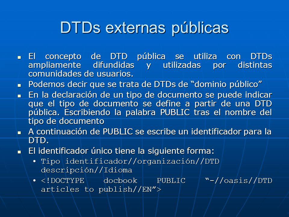 DTDs externas públicas