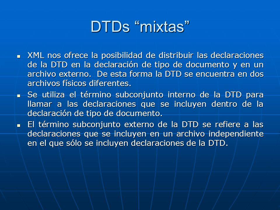 DTDs mixtas