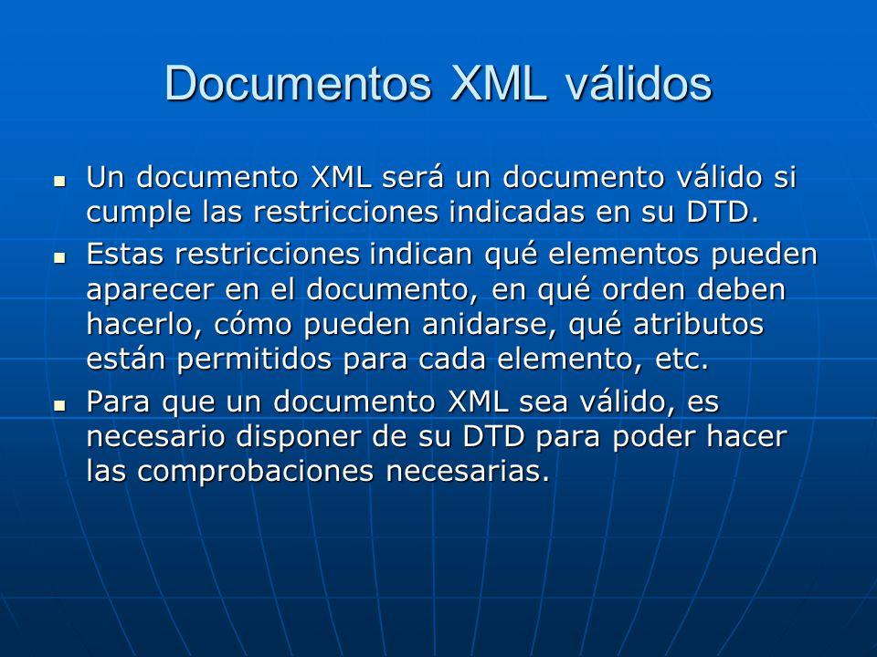Documentos XML válidos