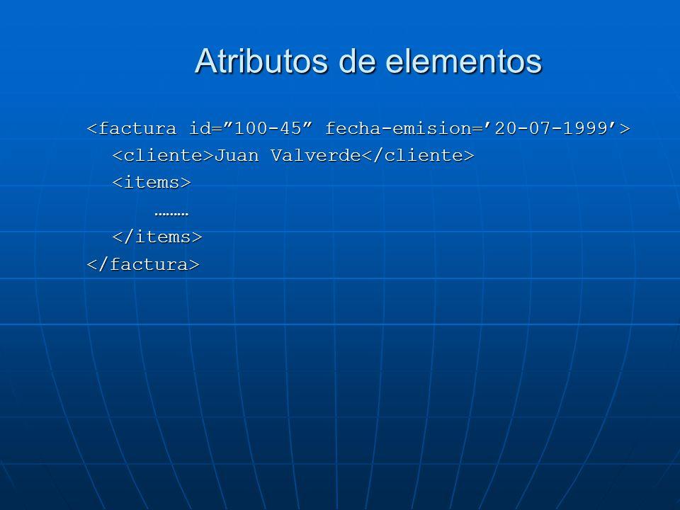 Atributos de elementos