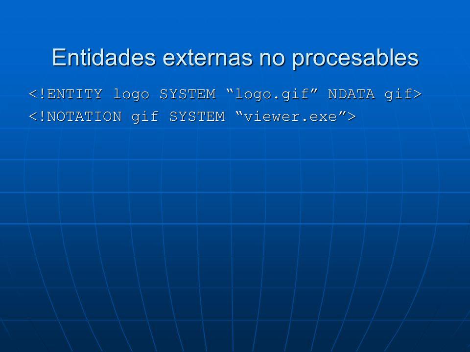 Entidades externas no procesables