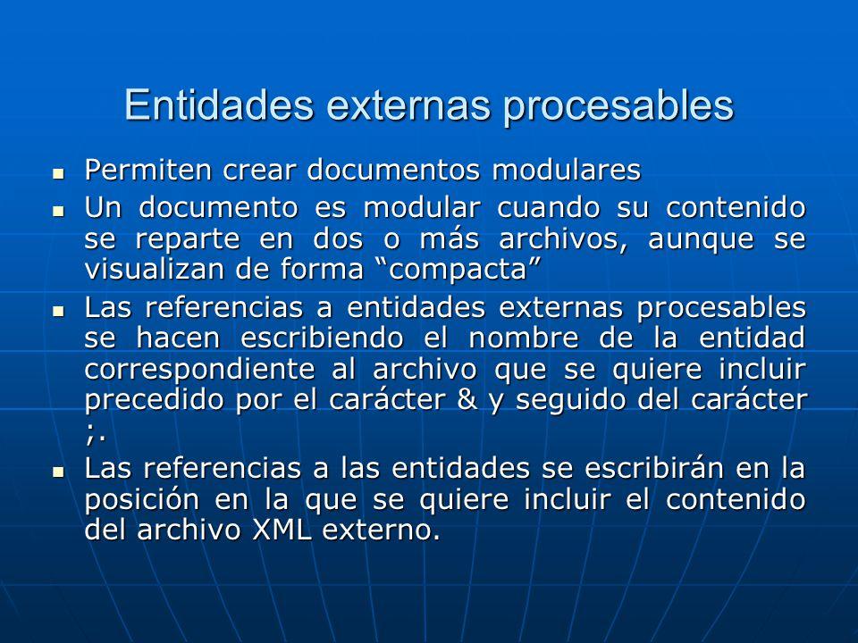 Entidades externas procesables