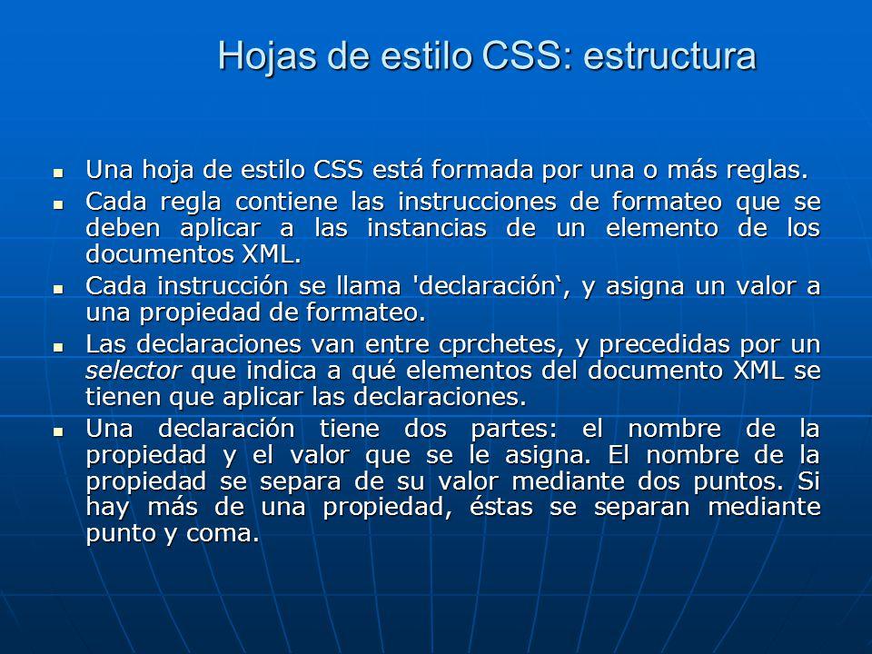 Hojas de estilo CSS: estructura