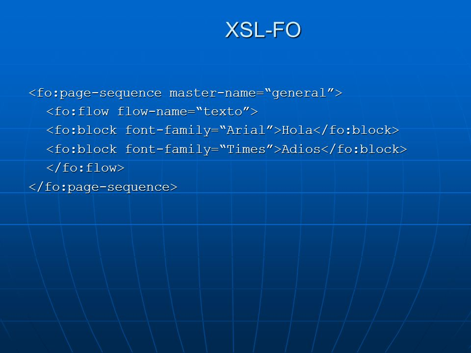 XSL-FO <fo:page-sequence master-name= general >