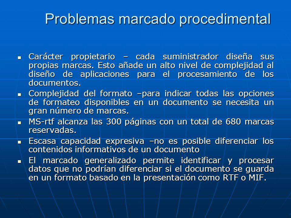 Problemas marcado procedimental
