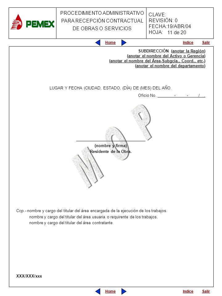 LUGAR Y FECHA (CIUDAD, ESTADO, (DÍA) DE (MES) DEL AÑO.