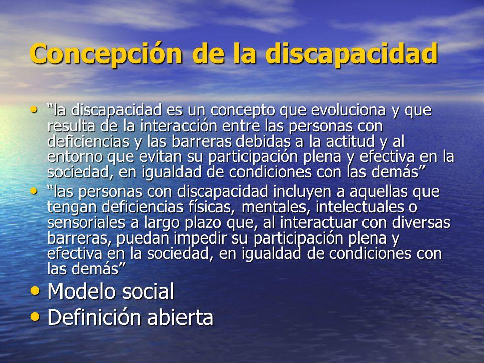 Concepción de la discapacidad