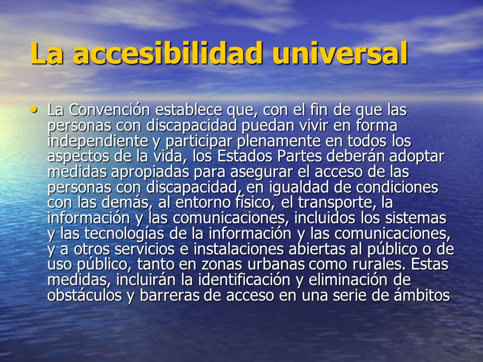 La accesibilidad universal