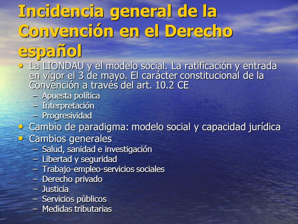 Incidencia general de la Convención en el Derecho español