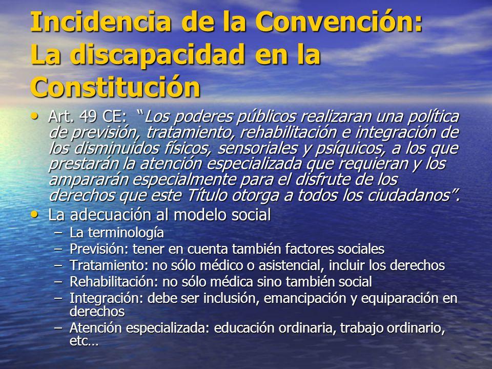 Incidencia de la Convención: La discapacidad en la Constitución