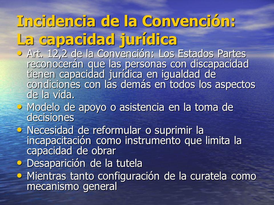 Incidencia de la Convención: La capacidad jurídica