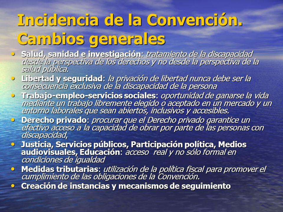 Incidencia de la Convención. Cambios generales