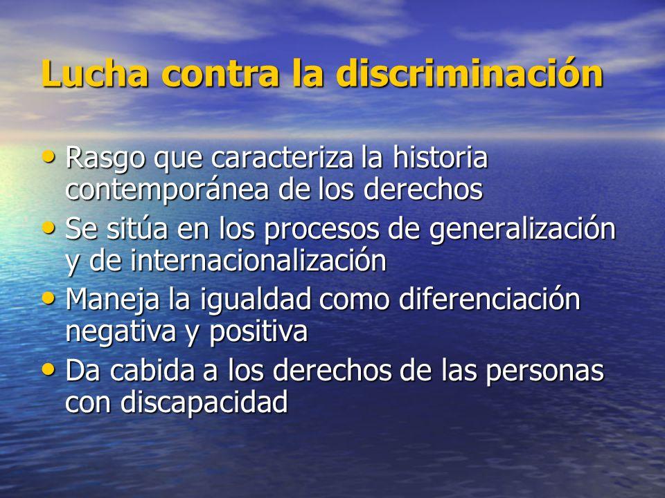Lucha contra la discriminación