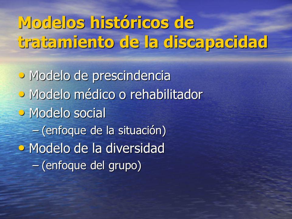 Modelos históricos de tratamiento de la discapacidad