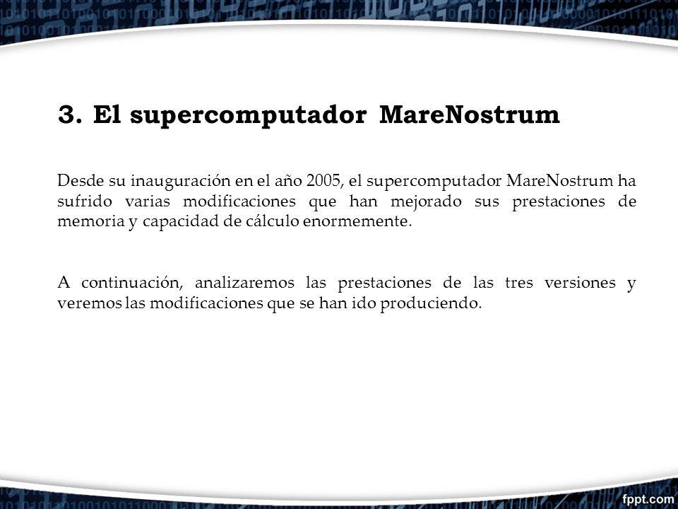 3. El supercomputador MareNostrum
