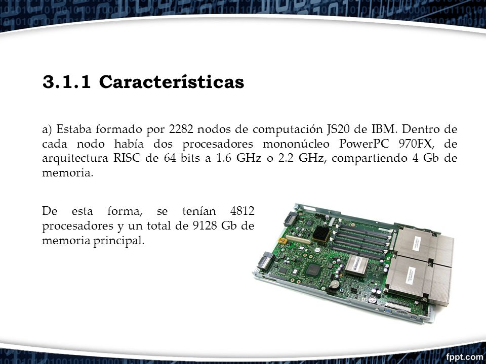 El supercomputador marenostrum ppt descargar for Arquitectura 128 bits