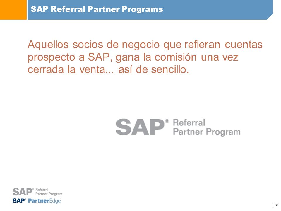 SAP Referral Partner Programs