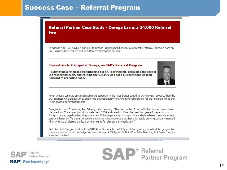 Success Case – Referral Program