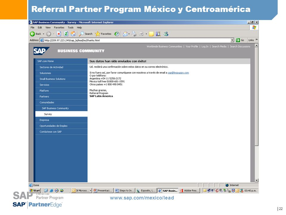 Referral Partner Program México y Centroamérica