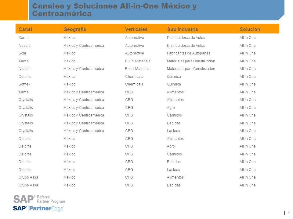 Canales y Soluciones All-in-One México y Centroamérica