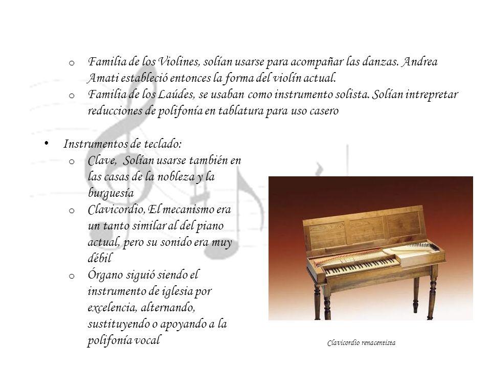 Instrumentos de teclado: