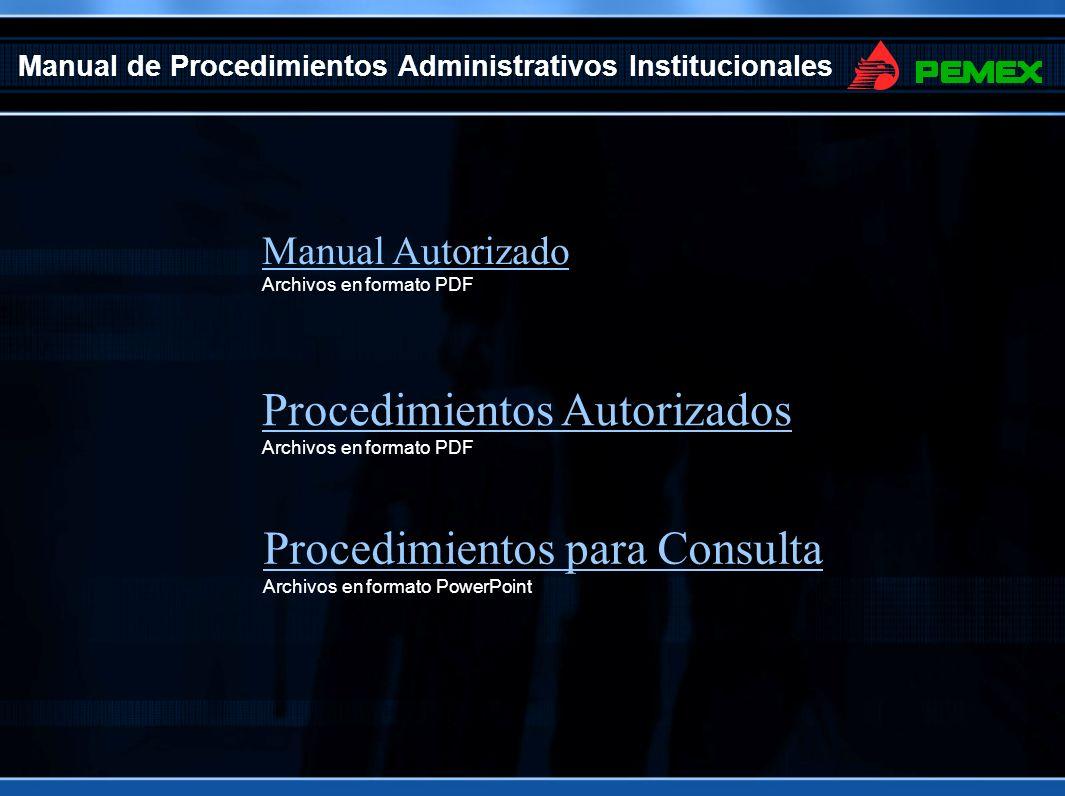 Manual de Procedimientos Administrativos Institucionales