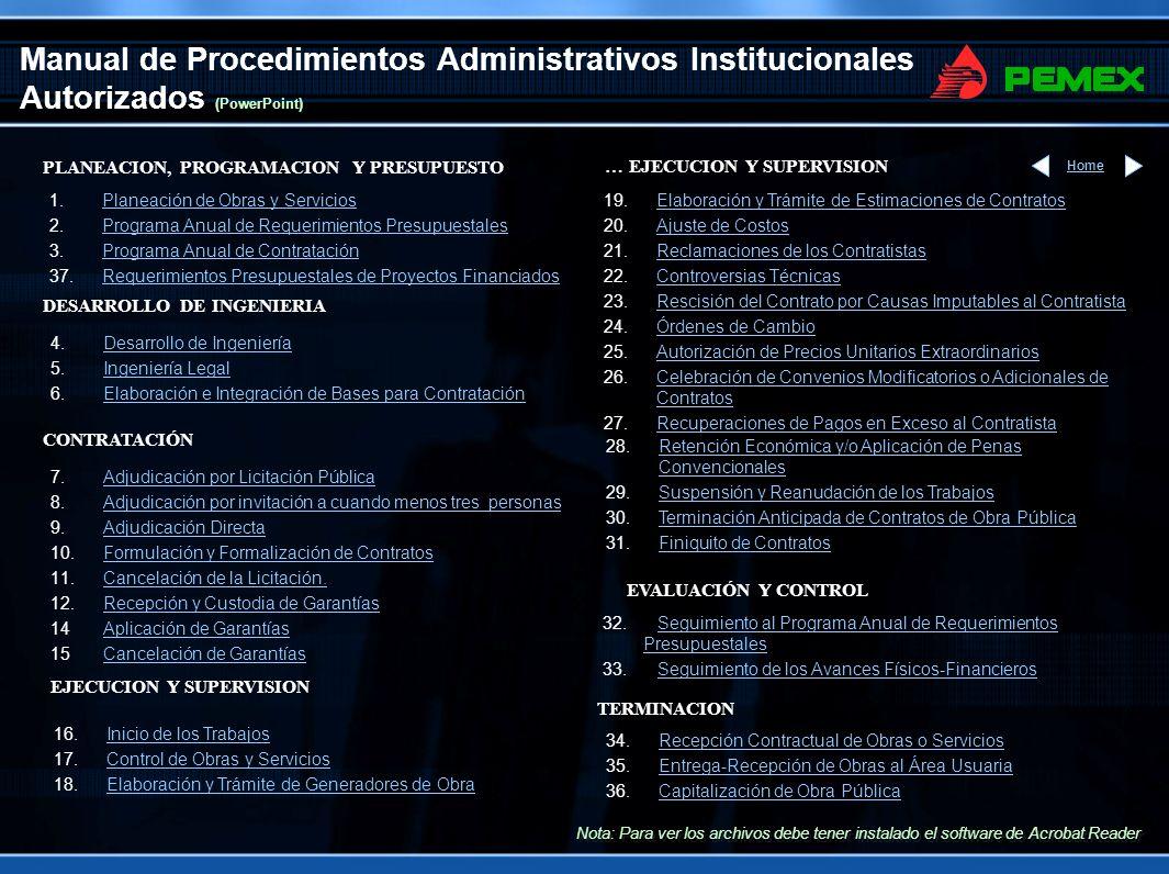 Manual de Procedimientos Administrativos Institucionales Autorizados (PowerPoint)
