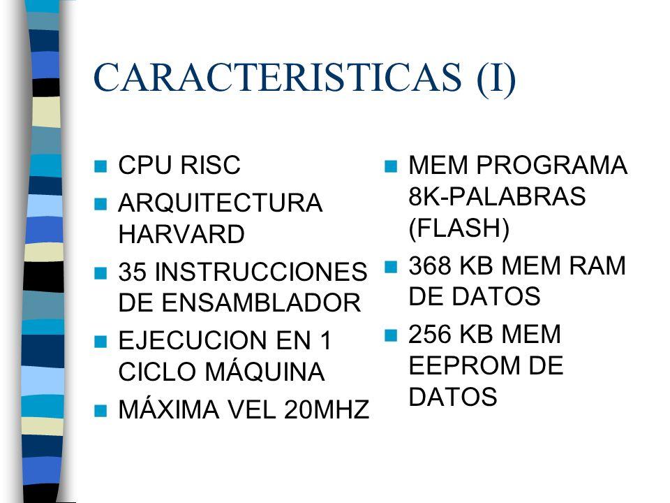 CARACTERISTICAS (I) CPU RISC ARQUITECTURA HARVARD