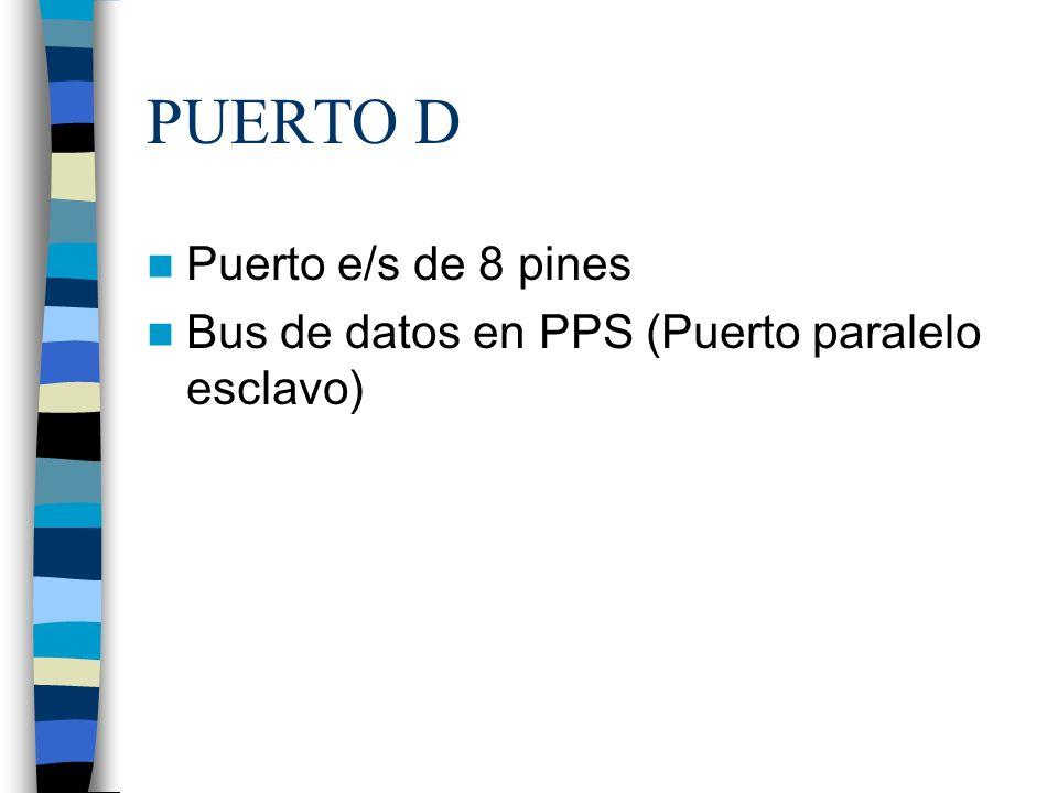 PUERTO D Puerto e/s de 8 pines