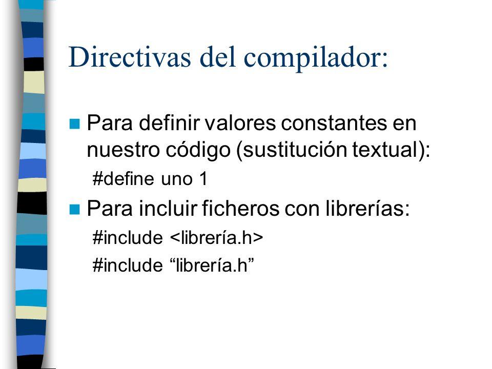 Directivas del compilador: